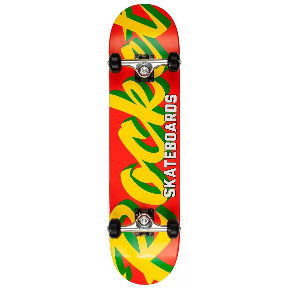 Rocket Complete Skateboard Pro Script Red/Yellow 7.75 IN